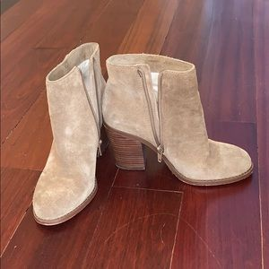 Sole society tan suede booties